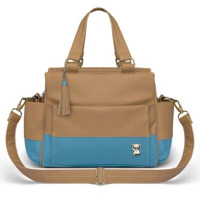 Imagem 4 do produto Mala Maternidade para bebe + Bolsa Genebra + Frasqueira Térmica Zurique Due Colore Turquesa - Classic for Baby Bags
