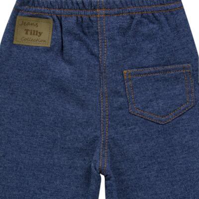 Imagem 2 do produto Calça para bebe em moletinho Azul Jeans - Tilly Baby - TB168010 CALÇA MOLETINHO MASCULINA-GG