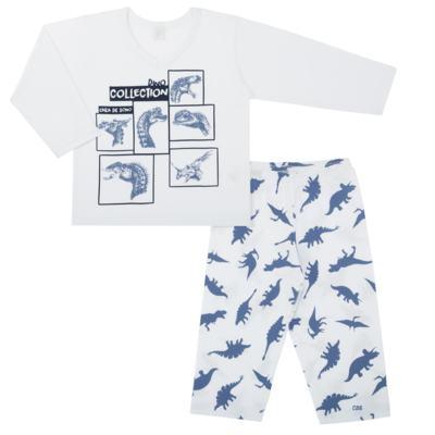Imagem 1 do produto Pijama longo em malha Dinossauros - Cara de Sono - L3490 PIJAMA LONGO MALHA DINOS-4