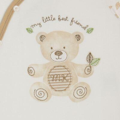 """Imagem 2 do produto Macacão com abertura """"S"""" para bebe em algodão egípcio c/ jato de cerâmica e filtro solar fps 50 Nature Little Friend Bear  - Mini & Kids - MCPR0001.18 MACAÇÃO COM PÉ REVERSÍVEL- SUEDIENE-RN"""