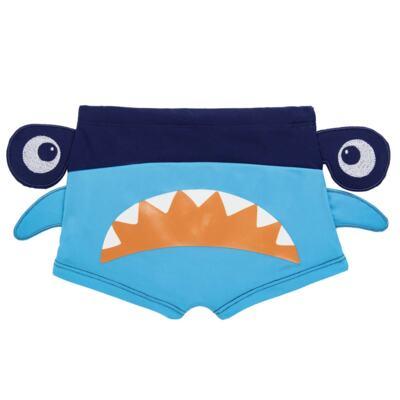 Imagem 3 do produto Conjunto de Banho Tubarão Martelo: Camiseta + Sunga - Cara de Criança - KIT 1 2910: SB2910 + CCA2910 SUNGA BOXER E CAMISETA TUBARAO MARTELO-3
