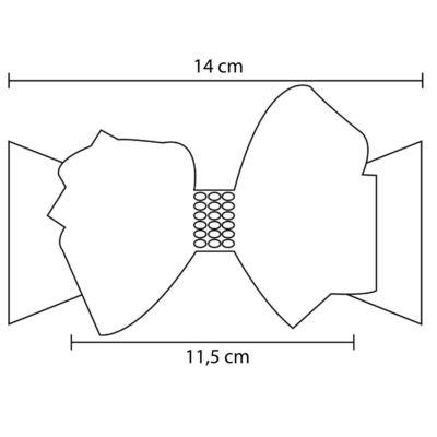 Imagem 2 do produto Faixa meia Maxi Laço gorgurão Marfim - Roana - 09840015031 Faixa Meia Especial Marfim
