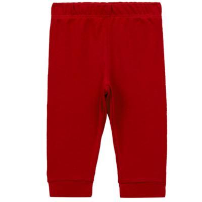Imagem 1 do produto Calça (mijão) para bebe em cotton touch Vermelha - Mini Sailor - 83024263 MIJAO PE REVERS AVULSO SUEDINE VERMELHO-3-6