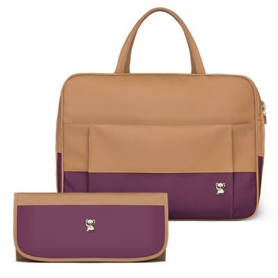 Imagem 1 do produto Mala Maternidade + Trocador Portátil Due Colore Uva - Classic for Baby Bags