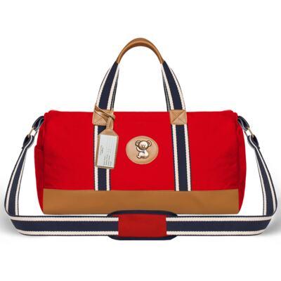 Imagem 2 do produto Bolsa maternidade para bebe + Bolsa passeio + Mochila + Necessaire Adventure em sarja Vermelha - Classic for Baby Bags