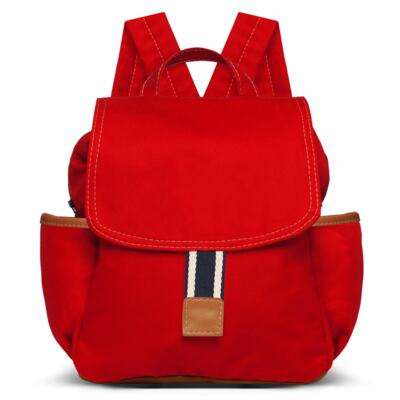 Imagem 4 do produto Bolsa maternidade para bebe + Bolsa passeio + Mochila + Necessaire Adventure em sarja Vermelha - Classic for Baby Bags