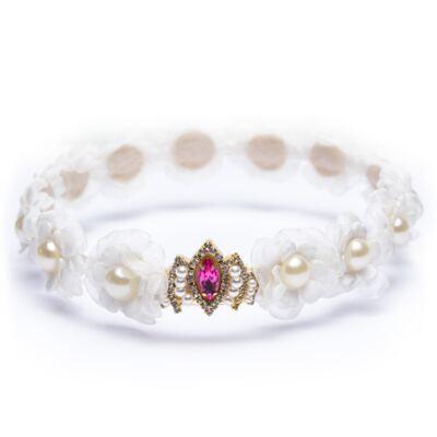 Imagem 1 do produto Coroa Flores & Pérolas Marfim - Roana
