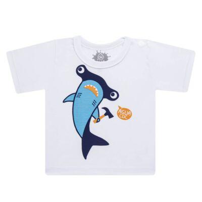 Imagem 2 do produto Conjunto de Banho Tubarão Martelo: Camiseta + Sunga - Cara de Criança - KIT 1 2910: SB2910 + CCA2910 SUNGA BOXER E CAMISETA TUBARAO MARTELO-2