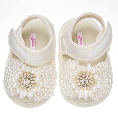 Imagem 1 do produto Sandália para bebe Pérolas & Strass Marfim - Roana