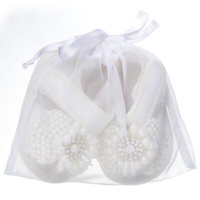 Imagem 4 do produto Sandália para bebe Pérolas & Strass Marfim - Roana