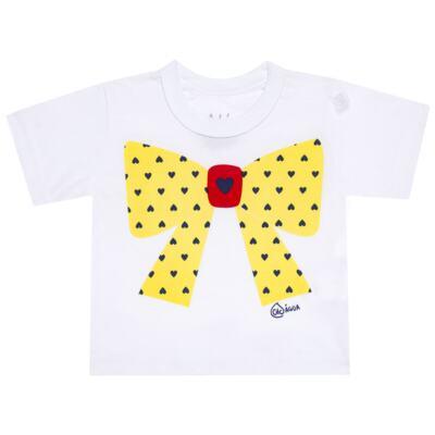 Imagem 2 do produto Conjunto de Banho Coraçõezinhos: Camiseta + Maiô + Tiara - Cara de Criança - KIT 1 1883CCA+M CORACOES-2