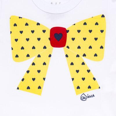 Imagem 3 do produto Conjunto de Banho Coraçõezinhos: Camiseta + Maiô + Tiara - Cara de Criança - KIT 1 1883CCA+M CORACOES-2