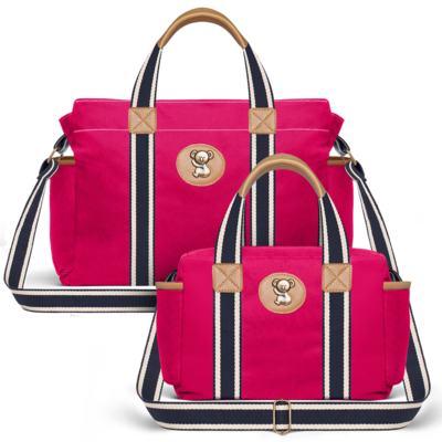 Imagem 1 do produto Bolsa Albany + Frasqueira Térmica Gold Coast em sarja Adventure Pink - Classic for Baby Bags