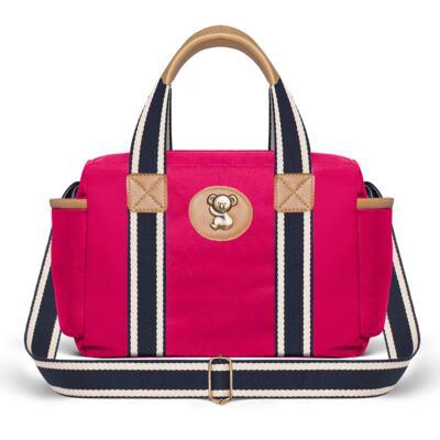 Imagem 3 do produto Bolsa Albany + Frasqueira Térmica Gold Coast em sarja Adventure Pink - Classic for Baby Bags