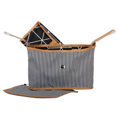 Imagem 4 do produto Mala maternidade com Rodízio + Bolsa Everyday + Frasqueira Organizadora Manhattan Preta - Masterbag