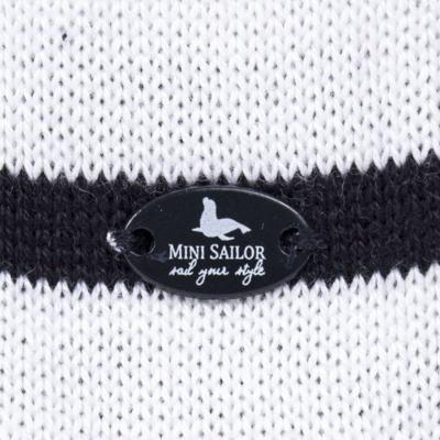 Imagem 3 do produto Macacão Pulôver c/ Casaquinho  para bebe em tricot Navy - Mini Sailor - 17994262 CASACO C/ JARDINEIRA TRICOT MARINHO -6-9
