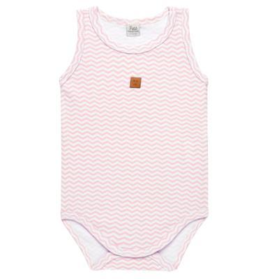 Imagem 1 do produto Body regata para bebe em suedine Ovelhinha Rosa - Petit - 01194344 BODY REGATA AVULSO SUEDINE OVELHA FEM-G