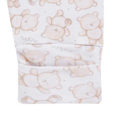 Imagem 3 do produto Pack 2 mijões com pé reversível para bebe em algodão egípcio c/ jato de cerâmica Nature Little Friends - Mini & Classic - 1025650 PACK 2 MIJOES PE REVERSIVEL SUEDINE NATURE-RN