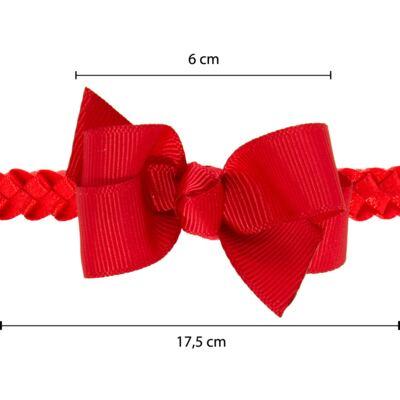 Imagem 3 do produto Faixa de cabelo trançada Laço Vermelha - Roana - 23840020007 FAIXA TRANÇADA ESPECIAL VERMELHO