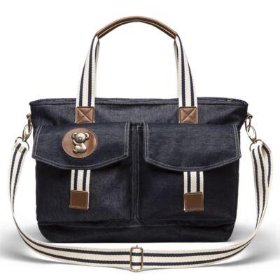 Imagem 3 do produto Bolsa Passeio para bebe + Bolsa Melbourne + Frasqueira Térmica Brisbane + Trocador Portátil Adventure Jeans - Classic for Baby Bags