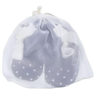 Imagem 5 do produto Sapatilha para bebe em veludo Pérolas & Laço Marinho - Roana - 20032014008 Sapatinha Luxo Perólas Marinho-RN