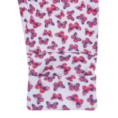 Imagem 3 do produto Pack 2 mijões com pé reversível para bebe em algodão egípcio c/ jato de cerâmica Papillon - Mini & Classic - 1025658 PACK 2 MIJOES SUEDINE FLORAL NAVY-RN