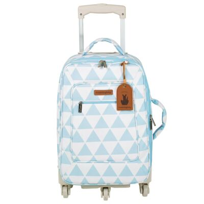Imagem 2 do produto Mala Maternidade com Rodízio + Bolsa Everyday + Frasqueira térmica Emy + Mochila Noah Manhattan Azul - Masterbag