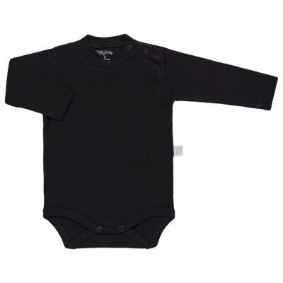 Imagem 1 do produto Body longo para bebe em suedine Preto - Tilly Baby - TB13111.08 BODY LONGO DE SUEDINE PRETO-3