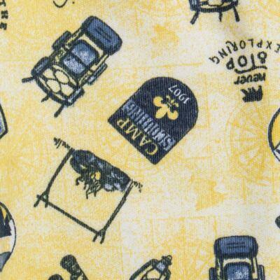 Imagem 3 do produto Pack 2 mijões com pé reversível para bebe em algodão egípcio c/ jato de cerâmica Camp Scouting - Mini & Classic - 10254161 PACK 2 MIJOES PE REVERS. SUEDINE CAMPING-P