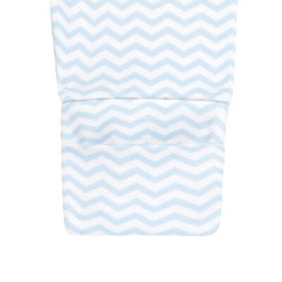 Imagem 5 do produto Pack 2 mijões com pé reversível para bebe em suedine Ovelhinha Azul - Petit - 10444345 PACK 2 MIJOES PE REVERSIVEL SUEDINE OVELHA MASC-P