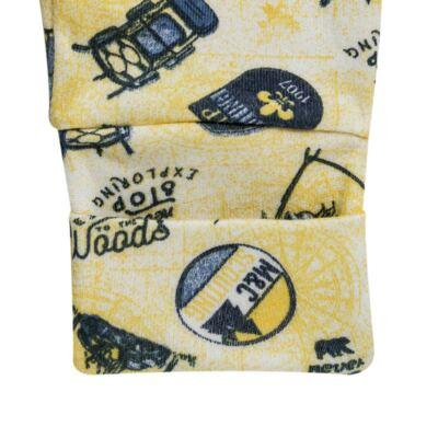 Imagem 4 do produto Pack 2 mijões com pé reversível para bebe em algodão egípcio c/ jato de cerâmica Camp Scouting - Mini & Classic - 10254161 PACK 2 MIJOES PE REVERS. SUEDINE CAMPING-RN