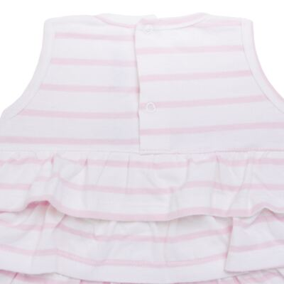 Imagem 3 do produto Body Vestido para bebe em suedine Lolita - Mini Sailor - 01224441 BODY VESTIDO C/LACOS SUEDINE ROSA BEBE-NB