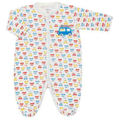 Imagem 1 do produto Macacão longo para bebe em malha Carrinhos - Tilly Baby - TB16833 MACACAO ML MASC CARRINHOS-RN