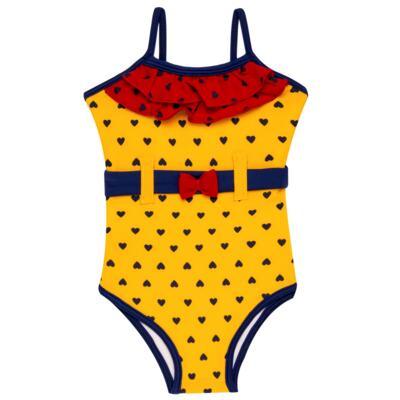 Imagem 5 do produto Conjunto de Banho Coraçõezinhos: Camiseta + Maiô + Tiara - Cara de Criança - KIT 1 1883CCA+M CORACOES-3