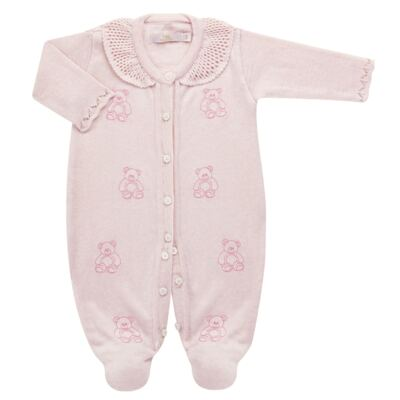 Imagem 1 do produto Macacão c/ golinha para bebe em tricot Bellamy - Petit - 21864279 MACACAO C/ GOLA TRICOT ROSA BEBE-GG