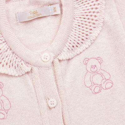 Imagem 2 do produto Macacão c/ golinha para bebe em tricot Bellamy - Petit - 21864279 MACACAO C/ GOLA TRICOT ROSA BEBE-GG