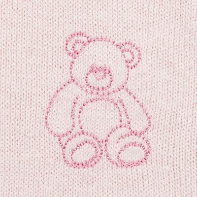 Imagem 3 do produto Macacão c/ golinha para bebe em tricot Bellamy - Petit - 21864279 MACACAO C/ GOLA TRICOT ROSA BEBE-GG
