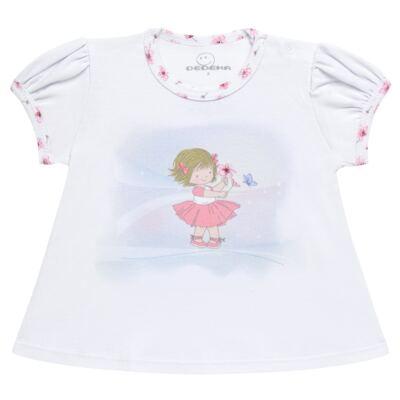 Imagem 2 do produto Pijama curto em malha Flowers - Dedeka - DDK17074/E132 Pijama Ribana Floral -M