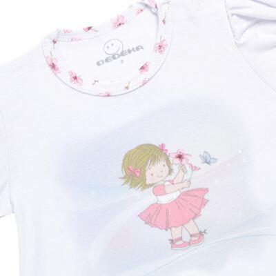 Imagem 3 do produto Pijama curto em malha Flowers - Dedeka - DDK17074/E132 Pijama Ribana Floral -M