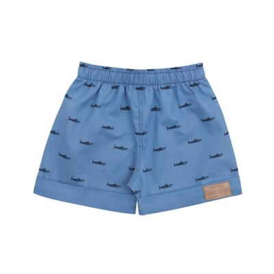 Imagem 3 do produto Camiseta Polo com Bermuda para bebe Maritime Company branca - Time Kids - TK5110.BC CONJUNTO CAMISETA C/SHORTS BRANCO/AZUL-G