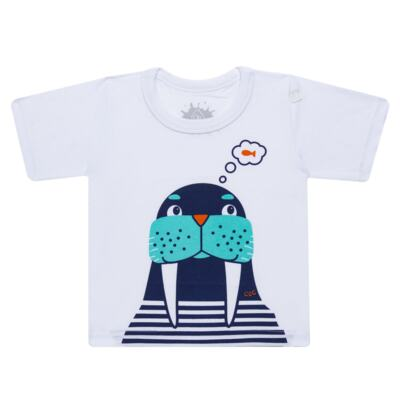 Imagem 2 do produto Conjunto de Banho Morsa: Camiseta + Sunga - Cara de Criança - KIT 2 2532: SB2532+CCA2532 SUNGA E CAMISETA MORSA-4