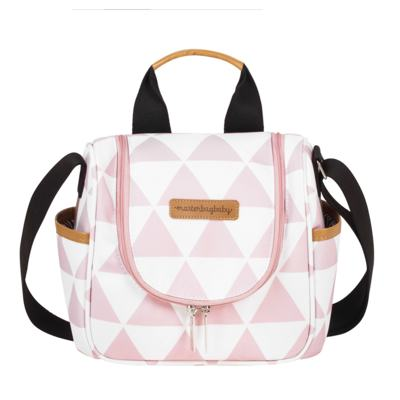 Imagem 4 do produto Bolsa 4 em 1 Sofia + Frasqueira térmica Emy + Frasqueira Organizadora Manhattan Rosa - Masterbag