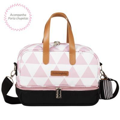 Imagem 5 do produto Mala maternidade Vintage + Bolsa 4 em 1 Sofia + Frasqueira térmica Vicky Manhattan Rosa - Masterbag