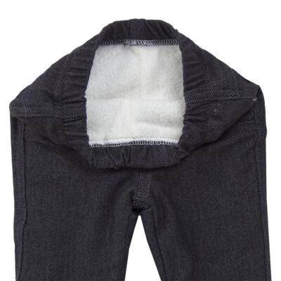 Imagem 5 do produto Calça para bebe forrada em fleece & pelúcia Dark Denim - Mini & Classic - CLCF4169 CALÇA C/ FORRO FLEECE/ MAL PUG-3