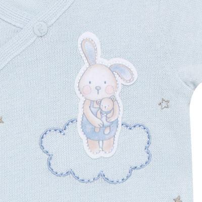 """Imagem 2 do produto Macacão longo com abertura """"S"""" para bebe em tricot Lapin - Petit - 22344420 Macacão ML Masc Tricot Azul -RN"""