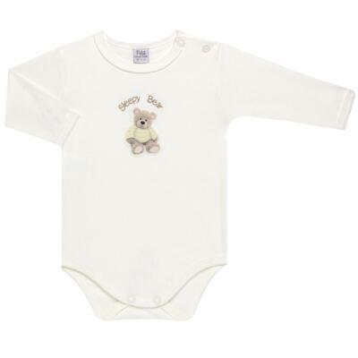 Imagem 2 do produto Pack 2 Bodies longos para bebe em suedine Ursinho - Petit - 10424346 PACK 2 BODIES M/L SUEDINE URSO NEUTRO-G