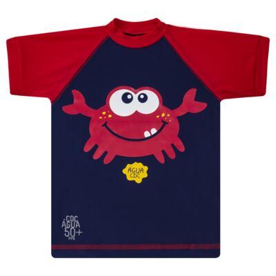 Imagem 2 do produto Conjunto de Banho Caranguejo: Camiseta surfista + Sunga - Cara de Criança - KIT 2 2903: SB2903 + CSA2903 SUNGA E CAMISETA CARANGUEIJO-3
