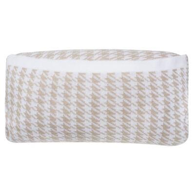 Imagem 8 do produto Kit Berço: Rolinhos Laterais  + Rolinho Cabeceira + Manta + Segura nenê + Almofada Retangular Pied Poule Caqui - Petit