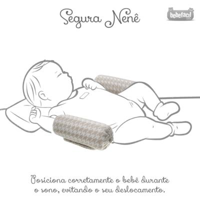 Imagem 7 do produto Kit Berço: Rolinhos Laterais + Rolinho Cabeceira + Manta + Segura nenê Pied Poule Caqui - Petit