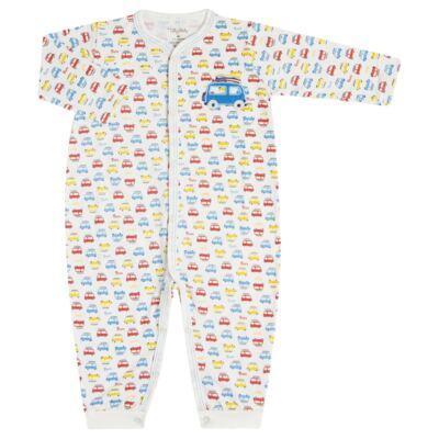 Imagem 1 do produto Macacão longo para bebe em malha Carrinhos - Tilly Baby - TB16833 MACACAO ML MASC CARRINHOS-G